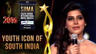 SIIMA 2016 Youth Icon of South India - Samantha