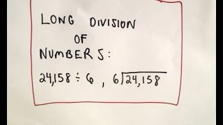 ❖ Long Division of Numbers - Arithmetic Basics, Ex 1 ❖