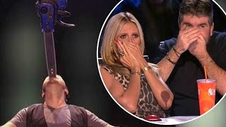 Ryan Stock MOST DANGEROUS ACT EVER | Judge Cuts 3 | America's Got Talent 2016 | Ep. 10