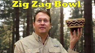 Zig Zag Segmented Bowl
