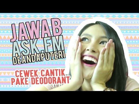 Cewek Cantik Pake Deodorant di Ketek - Ask.fm Deanda Puteri