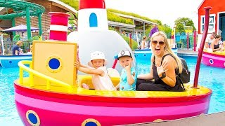 Best Outdoor Playgrounds for kids Amusement park Funny playtime with Gaby and Alex