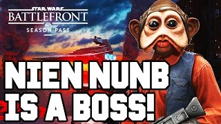 NIEN NUNB IS A BOSS!! Star Wars Battlefront DLC Gameplay - Outer Rim / DLC Heroes (Season Pass PS4)