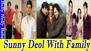 Sunny Deol | With Family | Wife | Mother | Father | Son | Daughter | Movies | Songs