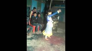 What a dance by a girl.. In Village Holud ceremony
