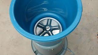 How to Make a WASHING MACHINE using Buckets (12V Portable)
