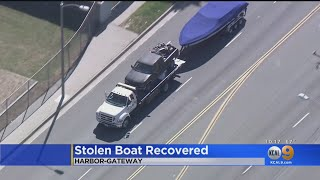 Owner Recovers His Stolen Boat Thanks To KCAL9 Watcher -- A Police Officer