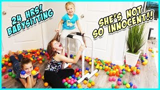 WE BABYSIT OUR SISTER FOR 24 HRS!!- LEARN How to babysit! / SmellyBellyTV
