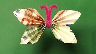 Geldgeschenke Basteln Geld Falten Blume Facher Playithub