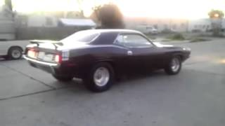 70 cuda from hell burnout 750hp