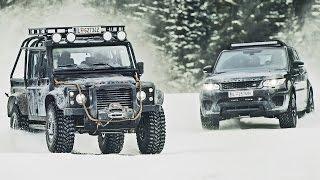 James Bond 'Spectre' Cars - Behind the Scenes - Jaguar C-X75, Range Rover SVR and Defender