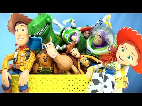 Xxx Mp4 Box Of Toy Story Toys Collection Of Characters From Toy Story Movie Woody Buzz Jessie Rex 3gp Sex