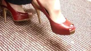 Peep Toes High Heels Dangle