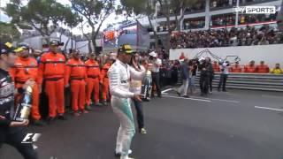 Hamilton Celebrates with Justin Bieber   F1 GP Monaco 29 05 2016   YouTube