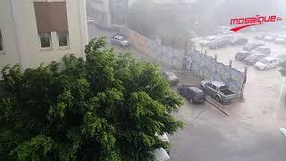 Vent fort et pluies intenses touchent la capitale