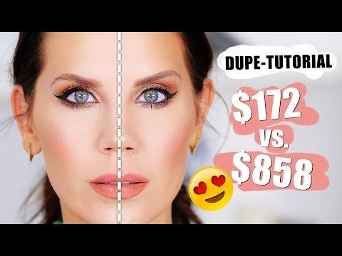 FULL FACE OF DUPES Drugstore vs. Highend