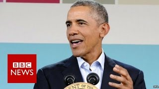 Why President Obama thinks Donald Trump will not be president - BBC News