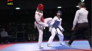 مسابقات تکواندو قهرمانی جهان به میزبانی مکزیک بین ایران و کره در وزن 68-
