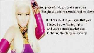 Nicki Minaj Fire burns karaoke with lyrics