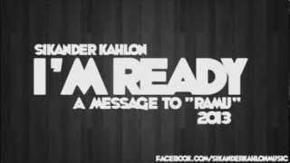 Honey Singh di Maha Besti by Sikander Kahlon | I'm Ready -- (A Message to 'RAMU')