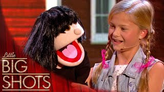 12yr old ventriloquist takes control of little Dawn | Little Big Shots