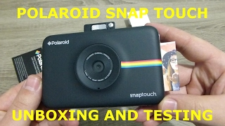 Polaroid SNAP Touch Unboxing Testing Printing from Smartphone