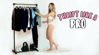 How To Thrift Like A Pro! Thrift With Me + Thrifty Lookbook!