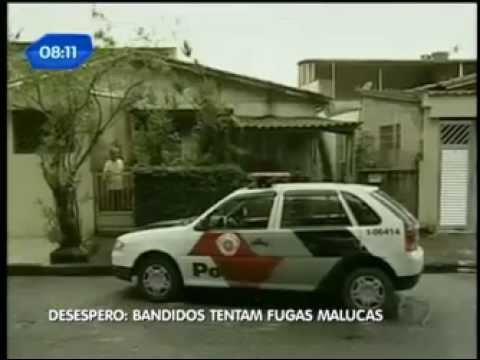Criminosos fazem loucuras para fugir da polícia