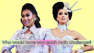 If there had been no LFYLegacy on All Stars 4, who would have won each main challenge?