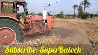| Wheat Cutting Machine with Tractor | Belarus MTZ 50 | Agriculture in Pakistan |