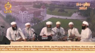 Diwan by Jathedar Pritam Singh Ji during Jap Paryog 2016 - 4 October 2016.