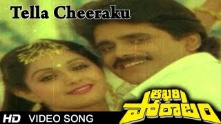 Aakhari Poratam Movie   Tella Cheeraku Video Song   Nagarjuna, Sridev