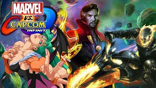 Marvel Vs Capcom: Infinite Morrigan, Dr. Strange, and Ghost Rider Character Dialogue and End Battle