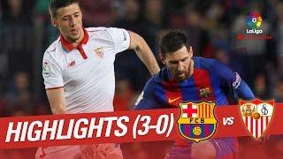 Resumen de FC Barcelona vs Sevilla FC (3-0)