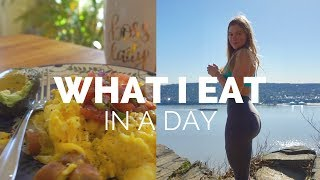 WHAT I EAT IN A DAY (ON A DIET) + GLUTE WORKOUT | SS Episode 3