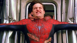 Spider-Man Stops the Train Scene - Spider-Man (2004) Movie CLIP HD