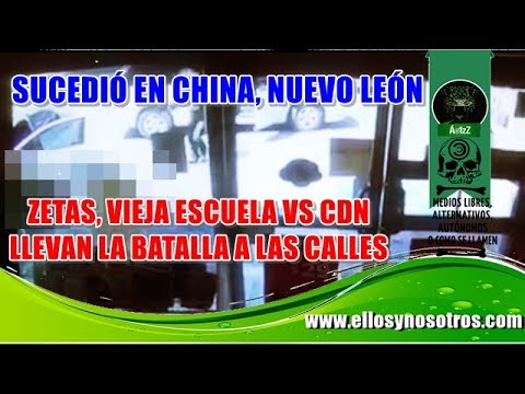 NuevoLeón tomado por Los Zetas Vieja Escuela y CDN. Video de cámara de seguridad