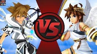 SORA vs PIT (Kingdom Hearts vs Kid Icarus)! Cartoon Fight Club Episode 124