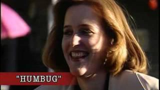The X-Files - Gillian Anderson eats a cricket