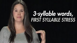 English Practice:  Syllable Stress – 3- Syllable Words