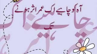 Aah Ko ChaHeay Ik Umer Urdu lyrics - Mehdi Hassan
