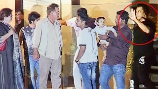 Salman Khan With Family At Arpita Khan's Party After Being Human E-Cycle Launch