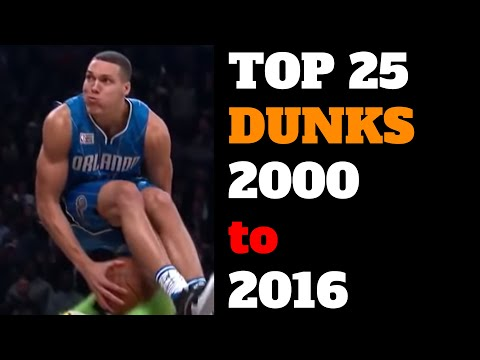 Top 25 NBA Slam Dunk Contest Dunks of All Time 2000 2016 HD Best List