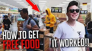 HOW TO GET FREE FOOD ANYWHERE! (ft. JuJu Smith)