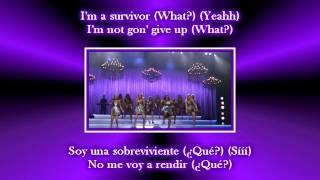 Glee - Survivor - I will survive / Sub spanish with lyrics