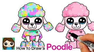 How to Draw a Poodle Easy | Beanie Boo