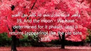 Sheikh Salah Bukhatir (سورة يس)- Surah Yasin صلاح بو خاطر (ARABIC+ TRANSLATION)!