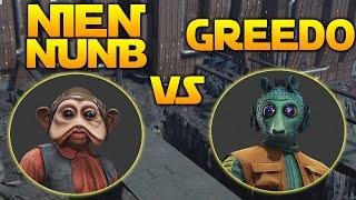 GREEDO VS NIEN NUNB - WHO'S BEST? Star Wars Battlefront Outer Rim DLC