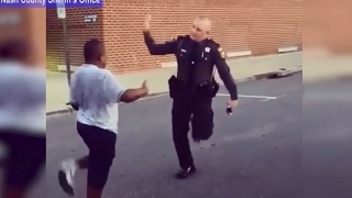 Officer Dance Battles Boy in Epic Running Man Challenge | ABC News