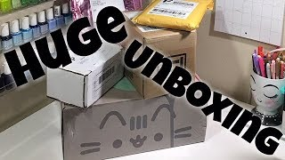 HUGE Unboxing China Glaze, Salon Perfect, Pusheen, Simply Gilded